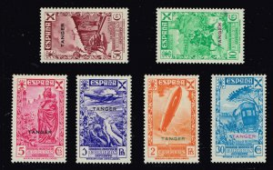 SPANISH Morocco 1938 CHARITY ZEPPELIN + MH/OG STAMPS LOT