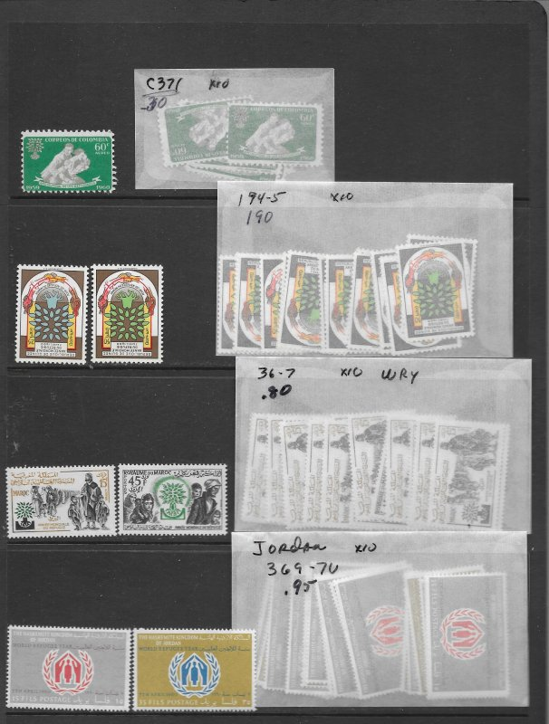 WRY stock of 14 different MNH sets x 10 each, CV 243.50