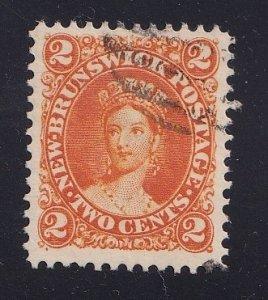 Canada  New Brunswick   #7 used  1863  Queen Victoria  2c