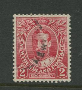 Newfoundland - Scott 105- QV Definitive - 1911 - FU - Single 2c Stamp