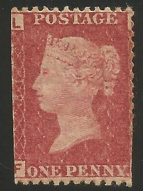 GREAT BRITAIN 33 MOG PLATE 81 933F