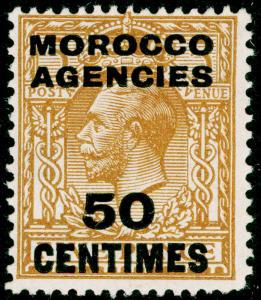 MOROCCO AGENCIES SG207, 50c on 5d yellow-brown, M MINT.