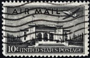 C34 10¢ Pan-American Building Single (1947) Used