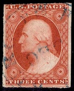 US Stamp #10A USED SCV $145. Rich Color.