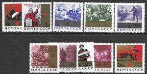 Russia 3030-39  1965  set 10  VF  NH