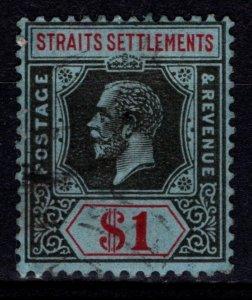 Straits Settlements 1912 George V Definitive, $1 [Used]