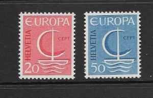 SWITZERLAND - EUROPA 1966 - SCOTT 477 TO 478 - MNH