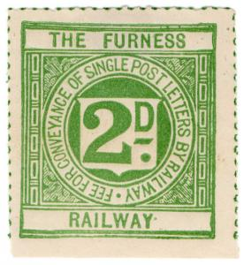 (I.B) The Furness Railway : Letter Stamp 2d