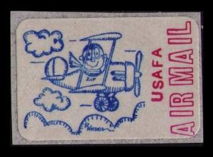 UNITED STATES USAFA SCARCE VINTAGE AIR MAIL LABEL / STICKER, SEE SCAN (AM51)