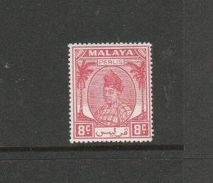 Malaya Perlis 1951/5 8c scarlet MM SG 13