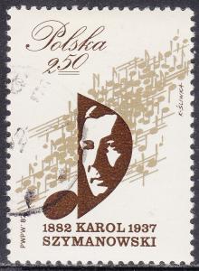 Poland 2514 CTO 1982 Karol Szymanowski 2.50zł