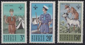 Cyprus 224-226 MNH (1963)