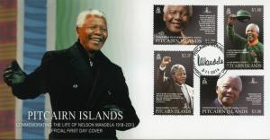 Pitcairn Islands 2014 FDC Nelson Mandela Commemorate Life 1918-2013 4v Set Cover