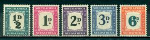 South Africa #J34-J38  Mint  Scott $96.00