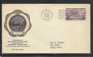US #783-37 Daniel Rice cachet addressed