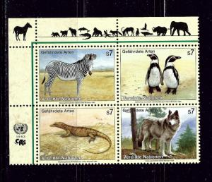 U.N. Vienna 146a MNH 1993 Endangered Species block of 4