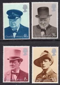 Great Britain  #728-731  MNH  1974 Churchill