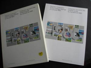 Canada Post official 1985 annual souvenir collection stamps are in the mounts