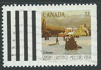 Canada SG 1342  FU right margin imperf from booklet