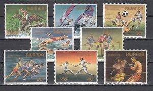 Rwanda, Scott cat. 1191-1198. `84 Summer Olympics issue.