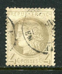 France Lot 6576 Repub Franc 1872 YVERT 52  4 Cent Gris Postes Stamp