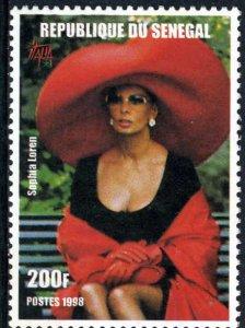 Senegal 1998 SOPHIA LOREN 1 value Perforated Mint (NH)