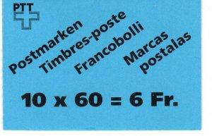 Switzerland #905a Complete Booklet  CV $22.50 (X1063)
