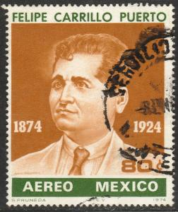 MEXICO C435, Birth Centenary of Felipe Carrillo Puerto USED. F-VF. (1305)