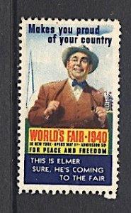 USA New York World's Fair 1939/40 Elmer is Coming to the Fair 1940