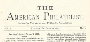 Doyle's_Stamps: APS Members' Delight- The American Philatelist Volume 1, No. 5
