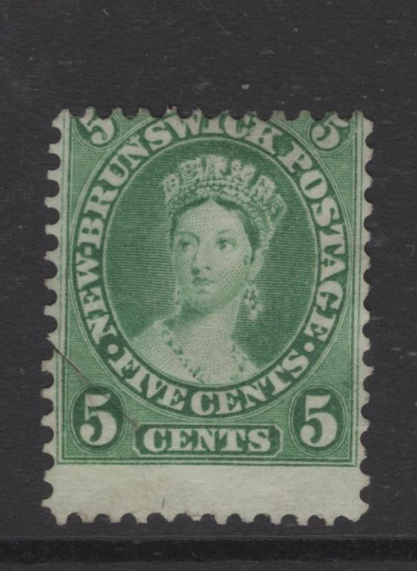 New Brunswick 1860 5c QV Stamp Scott 8 with Shift Error MNH