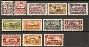 Alexandretta 1938 Scott 1-12 Syrian Stamps O'p/surcharge MH