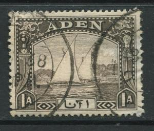 ADEN - Scott 3 - Dhow Issue - 1937- Used - Single 1a Stamp