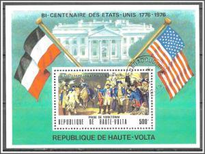Upper Volta #367A American Bicentennial Souvenir Sheet CTO