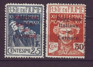 J19355 Jlstamps 1920 fiume mh #112,115 ovpt