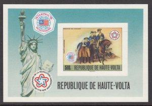 Burkina Faso C244 Deluxe Proof Card Souvenir Sheet MNH VF