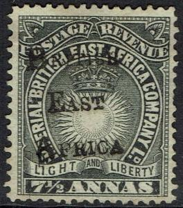 BRITISH EAST AFRICA 1895 LIGHT AND LIBERTY OVERPRINTED 71/2A NO GUM