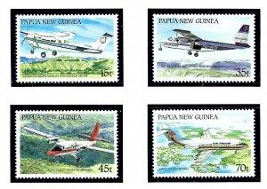 Papua New Guinea 687-90 MNH 1987 Airplanes