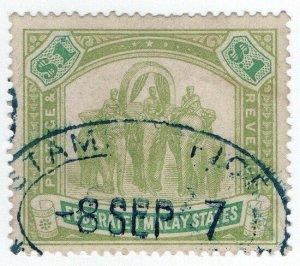 (I.B) Federated Malaya States Revenue : Duty Stamp $1