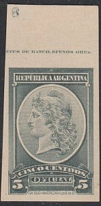 ARGENTINA - Plate proof on thick card.......................................D692