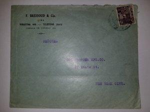 J) 1932 PERU, PARAKAS, AIRMAIL, CIRCULATED COVER, FROM PERU TO NEW YORK