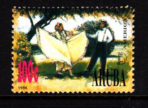 Aruba MNH Scott #136 100c Couple dancing - National Costumes
