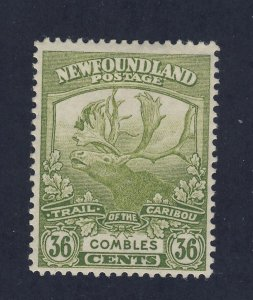 Newfoundland  Stamp #126-36c Trail of Caribou MH F/VF Guide Value = $50.00