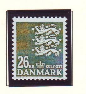 Denmark  Scott 815 1989 26.0 kr dark olive green State Seal stamp mint NH
