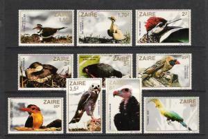 BIRDS - ZAIRE #1091-1100  MNH