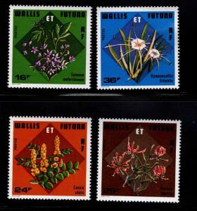 Wallis and Futuna Islands Scott 210-213 MNH** Flower set