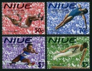 Niue 748-751,MNH.Michel 945-948. Olympics Sydney-2000.Pole vault,Diving,Hurdles