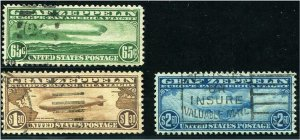 HERRICKSTAMP UNITED STATES Sc.# C13-15 1930 Fresh Well Centered Set VF Used