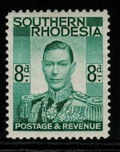 SOUTHERN RHODESIA SG45 1937 8d EMERALD-GREEN MTD MINT
