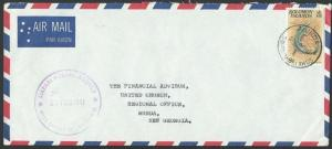SOLOMON IS 1981 cover LIAPARI POSTAL AGENCY cdS, local commercial..........12736